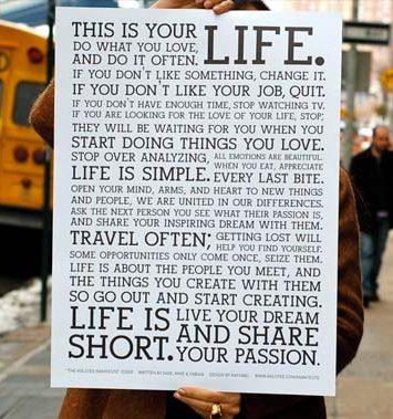 Um manifesto de vida